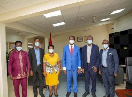 MANAGEMENT OF JEC PAY A COURTESY CALL ON THE MINISTER OF EDUCATION