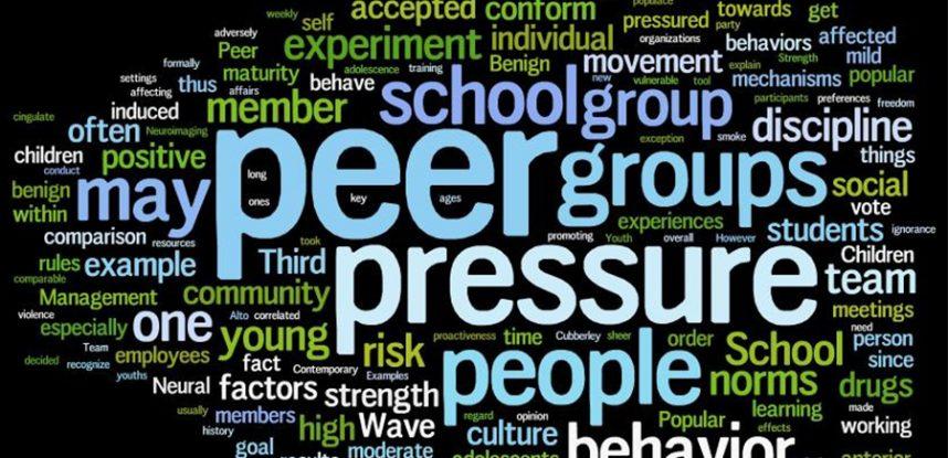 STUDENTS ADVISED AGAINST YIELDING TO PEER PRESSURE